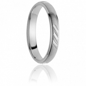 Alliance Avaroa 4 mm Or Blanc 18K