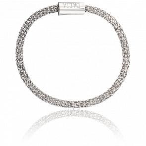 Bracelet Reflex Double Chaîne Mercure 3,8 mm Argent