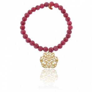 Bracelet Arabesque Plaqué Or & Perles Serpentines