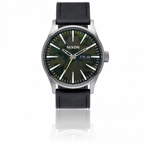 The Sentry Leather Gunmetal/Green Oxyde A105-2069