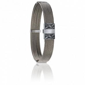 Bracelet 604 Câble Acier Gravé