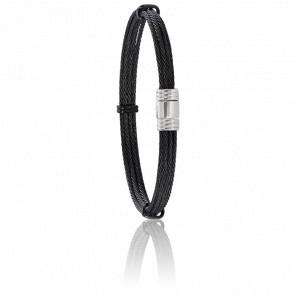 Bracelet 608 Câble Acier Noir