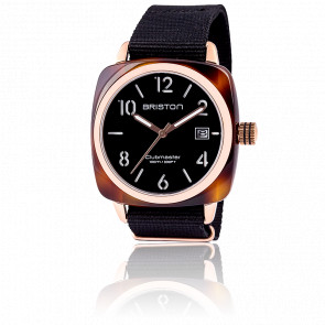 Clubmaster HMS Date Acétate Ecaille Claire PVD Or Rose cadran noir