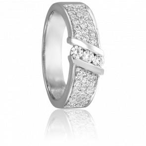 Bague Astrig Or Blanc 18K & Diamants