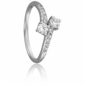 Bague Hera Or Blanc 18K & Diamants