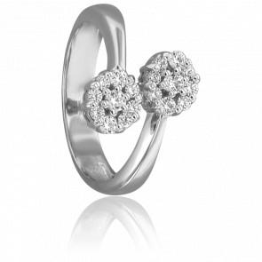 Bague Kiara Or Blanc 18K & 18 Diamants