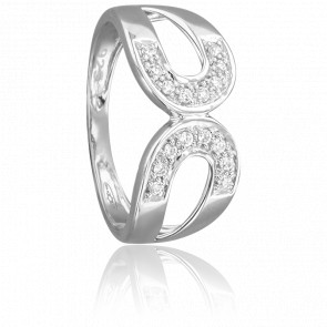 Bague Gistra Or Blanc 18K & Diamants