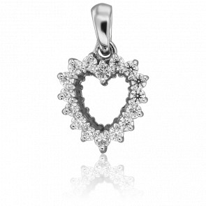 Pendentif Ella Or Blanc & Diamants