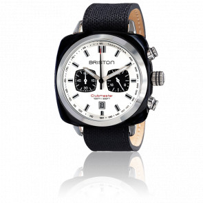 Montre Clubmaster Sport Acétate Chrono noir cadran blanc - Briston