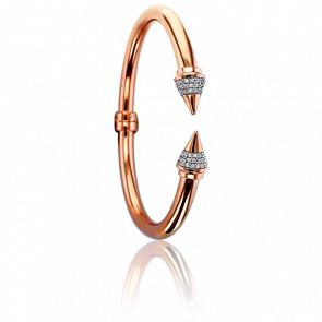 Bracelet Freccia Brillant & Doré Rose