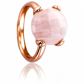 Bague Cocktail Quartz Rose