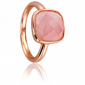 Bague Scintillante Quartz Rose