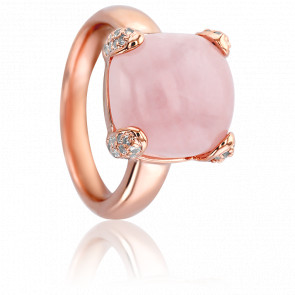Bague Delicato Quartz Rose