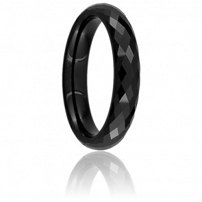 Bague Disco Noire 4 mm - Ultimate Ceramic