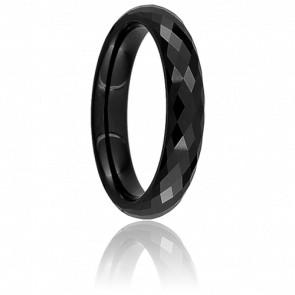 Bague Disco Noire 4 mm - Ultimate Ceramic