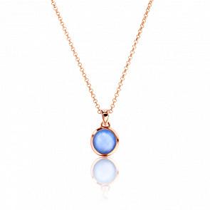 Collier Vercelli Agate Bleue