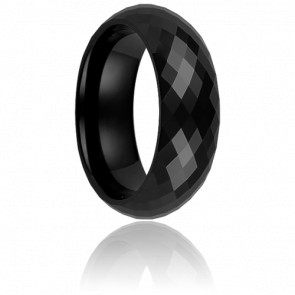 Bague Disco Noire 7 mm - Ultimate Ceramic