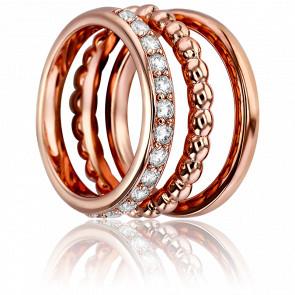 Bagues Fantasia 3 anneaux Doré Rose