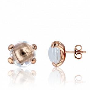 Boucles d'Oreilles Bottone Quartz Cristal