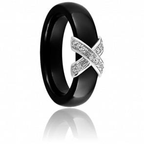Bague Xavelite Diamantée Noire