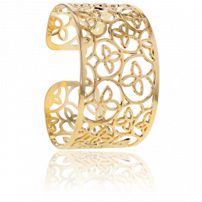 Bracelet Manchette Lotis Plaqué Or Jaune