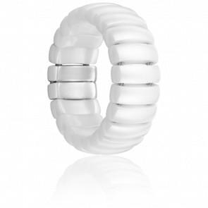 Bague Krill Céramique Blanche - Ultimate Ceramic - A SAISIR