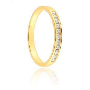 Alliance Tala Or Jaune 18K et Diamants 0,10 ct