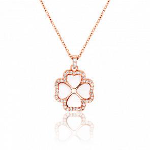 Collier Clover Vermeil Rose