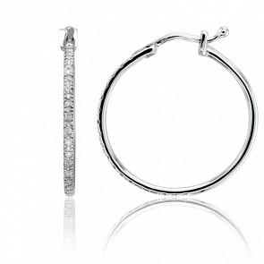 Créoles Diamants & Or Blanc 18K