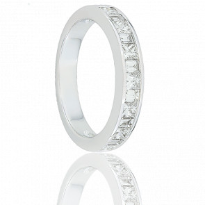 Alliance Oriza Or Blanc 18K et Diamants