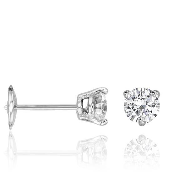 32d63608b5d79 Puces d Oreilles Shine Or Diamant 0