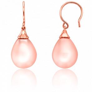Boucles d'Oreilles Rosa Vermeil & Perle