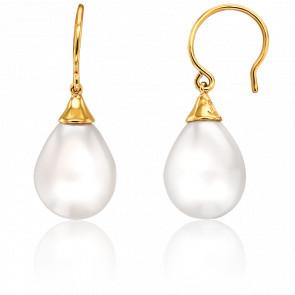 Boucles d'Oreilles Vanilla Perle Blanche