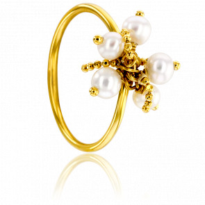 Bague Perles Nacre Or Jaune