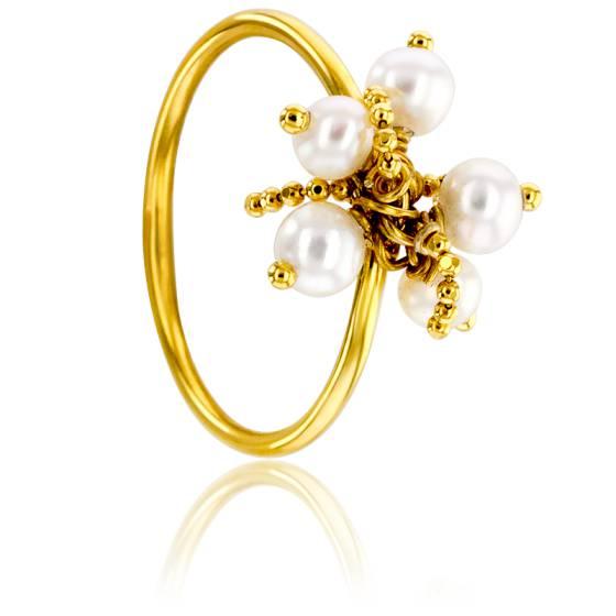 Bague Perles Nacre Or Jaune