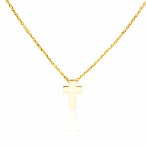 Collier Petite Croix Or Jaune