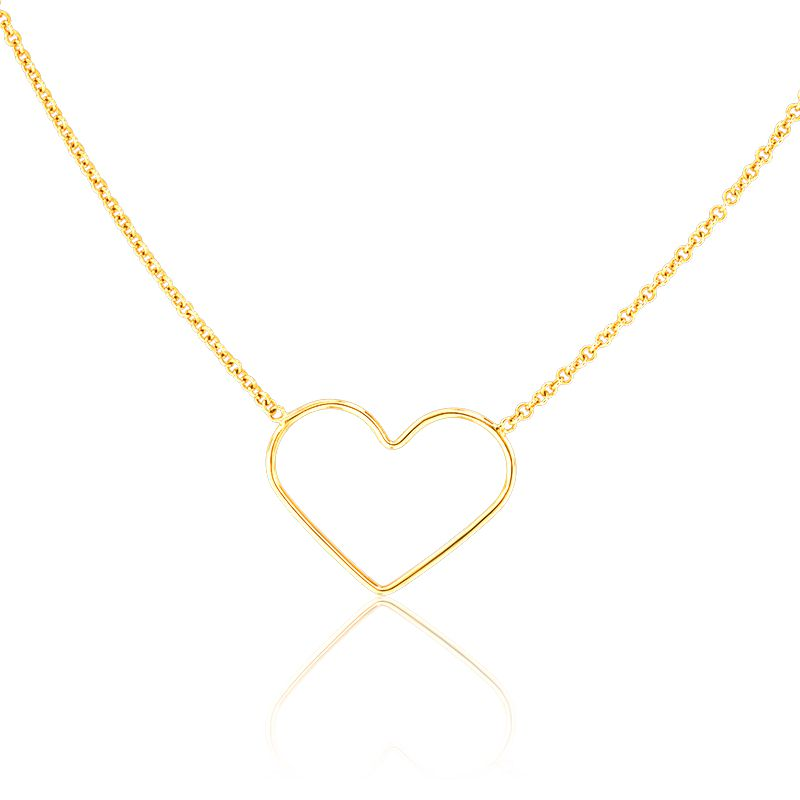 collier coeur en or jaune 9 carats scarlett or scarlett. Black Bedroom Furniture Sets. Home Design Ideas