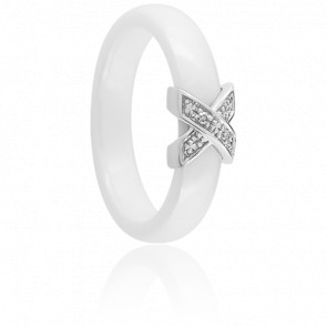 Bague Xavelite Blanche Diamants - Ultimate Ceramic