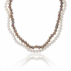 Collier Antigua Argent Massif & Perles