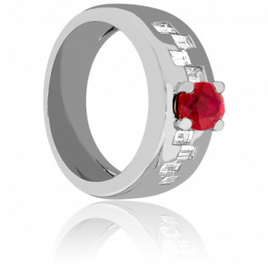 Bague couture rubis