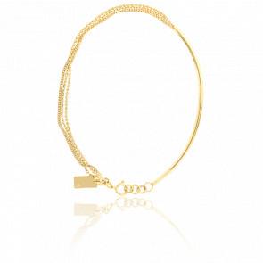 Bracelet Jonc & Chaine Or Jaune