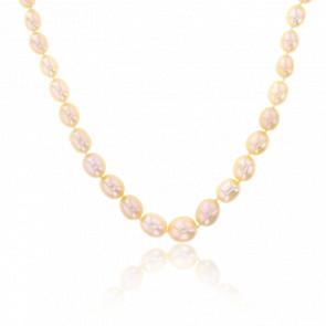 Collier Peach Perles & Argent