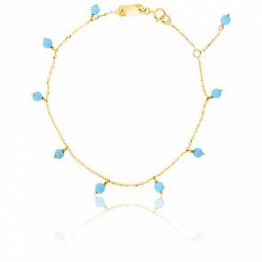 Bracelet Turquoises & Co Or Jaune