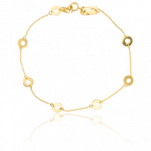 Bracelet Cercles Ajourés Or Jaune
