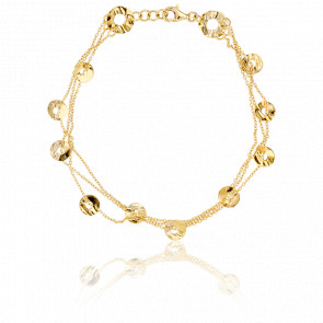 Bracelet Trio de Pastilles Ajourées Or Jaune