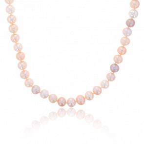 Collier Long Perle Rosé
