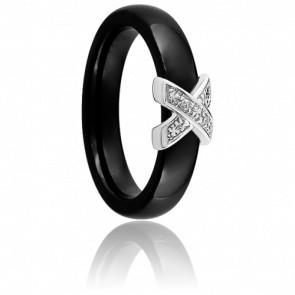 Bague Xavelite Noire Diamants - Ultimate Ceramic