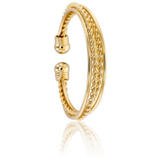 Bracelet Manchette Maroia Plaqué Or Jaune