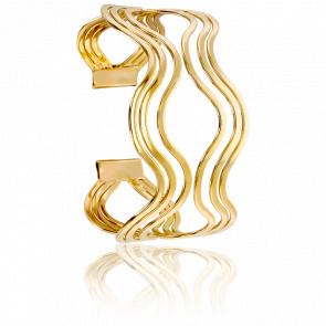 Bracelet Manchette Vestaline Plaqué Or Jaune