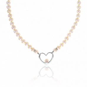 Collier Love Perles & Argent